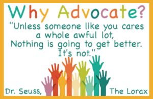 Why Advocate? Sign