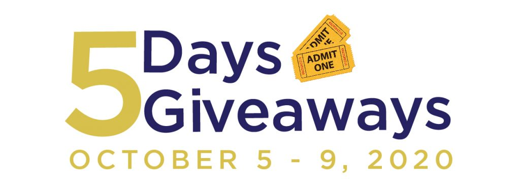 5 day giveaway from October 5 - 9